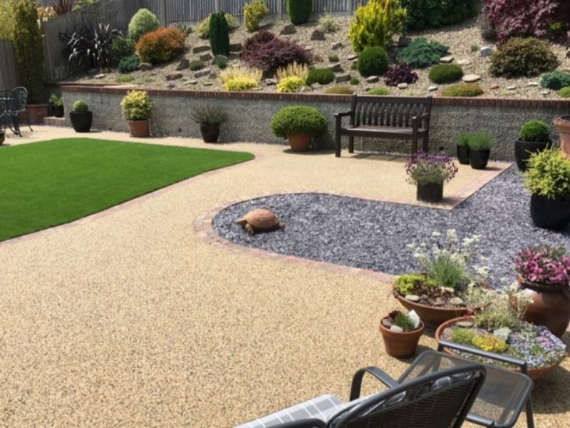 Resin Bound Patio outside